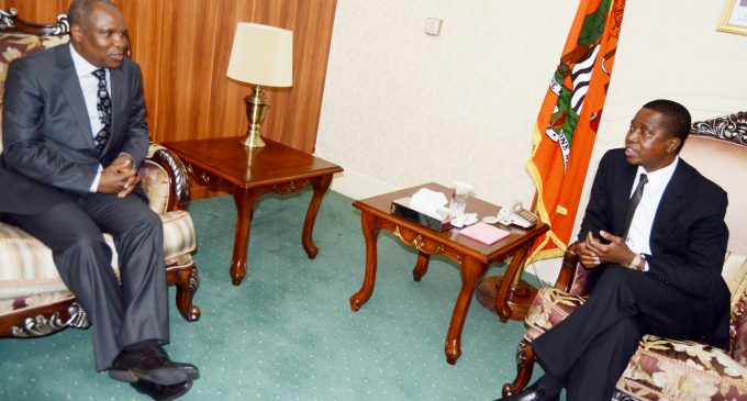 PRESIDENT LUNGU RECEIVES KING MSWATI'S SPECIAL ENVOY