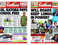 Rainbow Newspaper Zambia Edition 66 Sunday 23rd – Saturday 29th February 2020